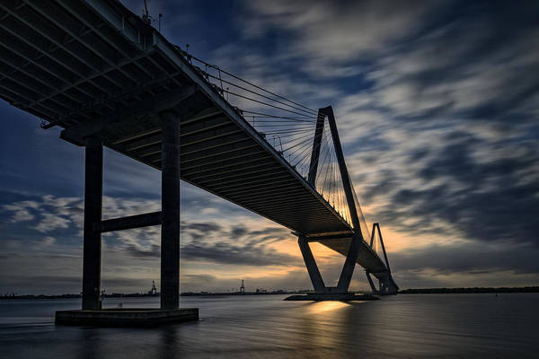 Cable-stayed Bridge Photograph - New Cooper River Bridge by Rick Berk
