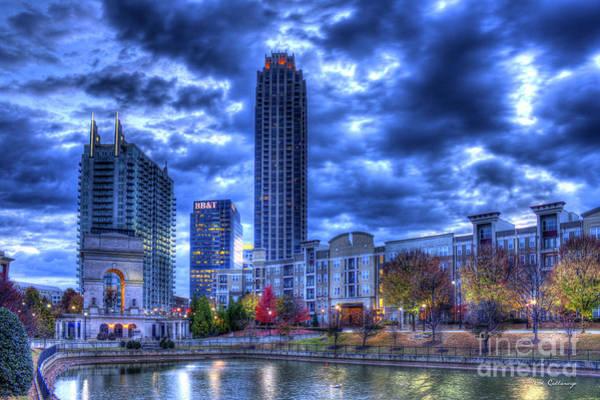 Atlanta Symphony Orchestra Photograph - New Dawn Atlantic Station Millennium Gate Art by Reid Callaway