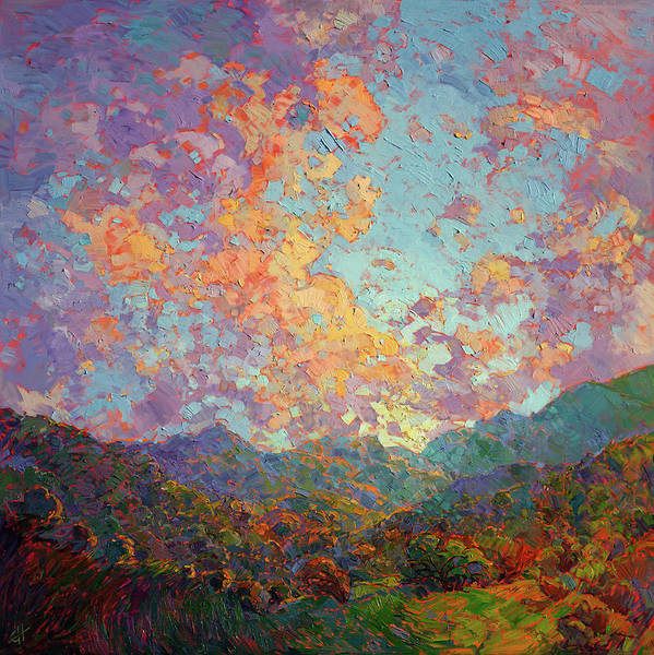 Wine Country Painting - New Dawn by Erin Hanson