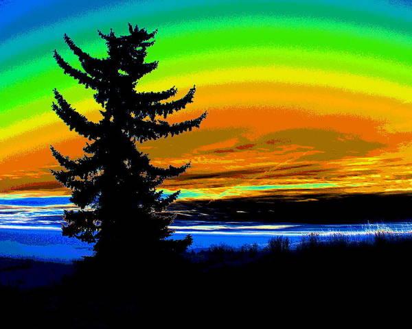 Spokane Digital Art - New Dawn In Spokane 2 by Ben Upham III