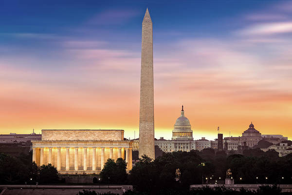 Photograph - New Dawn Over Washington by Mihai Andritoiu
