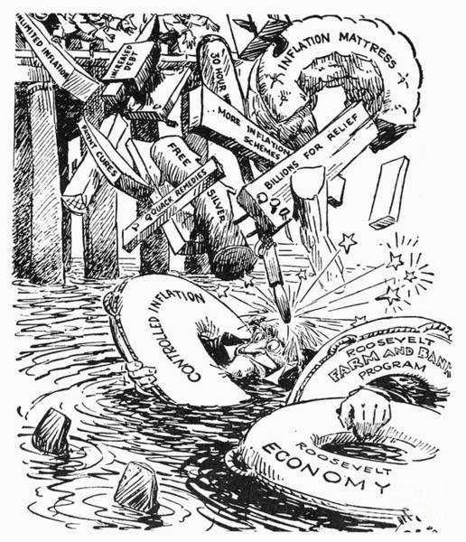 Photograph - New Deal Cartoon, C1933 by Granger