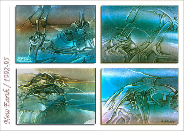 New Earth 1992-95 Art Print