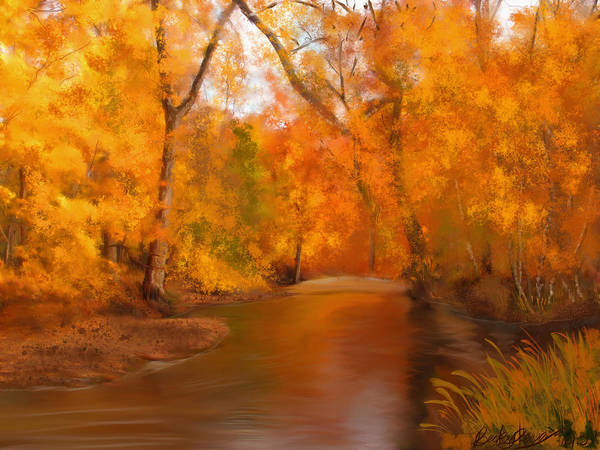 Painting - New England Autumn In The Woods by Becky Herrera