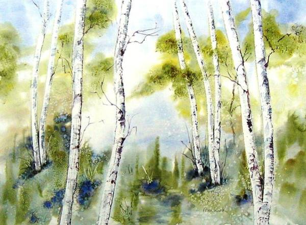 New England Birches Art Print
