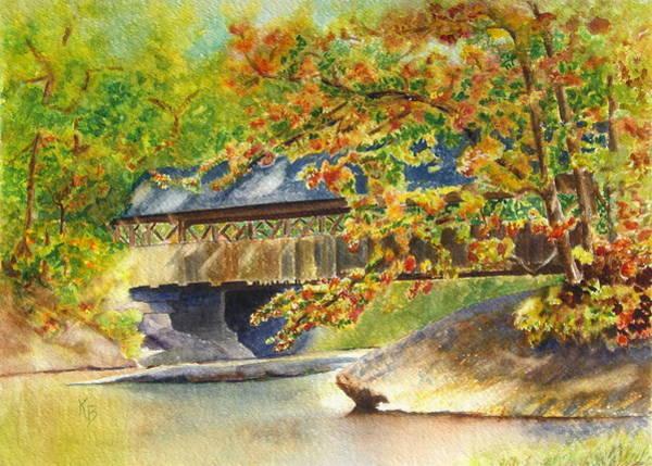 Painting - New England  Covered Bridge by Karen Fleschler