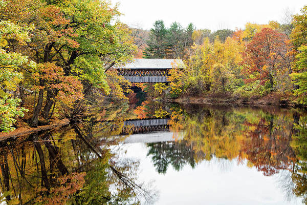 Photograph - New England Covered Bridge No.63 by Betty Pauwels
