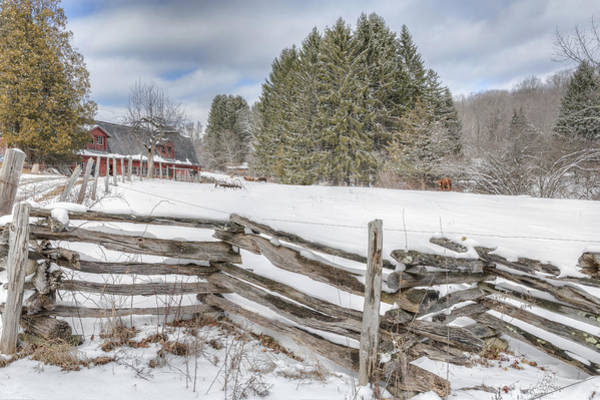 Photograph - New England Farm Winter 2016 by Bill Wakeley