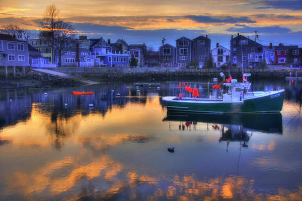 Wall Art - Photograph - New England Harbor Sunset - Rockport, Ma by Joann Vitali