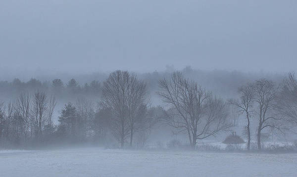 Henniker Photograph - New England Hillside Foggy Morning With Fresh Snow by Scott Snyder