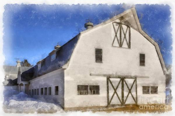 New England Barn Photograph - New England Horse Barn South Woodstock Vermont by Edward Fielding
