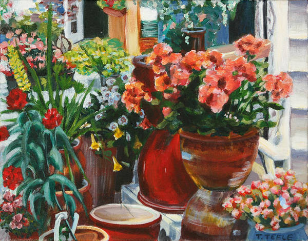 Painting - New England Nursery by Trina Teele