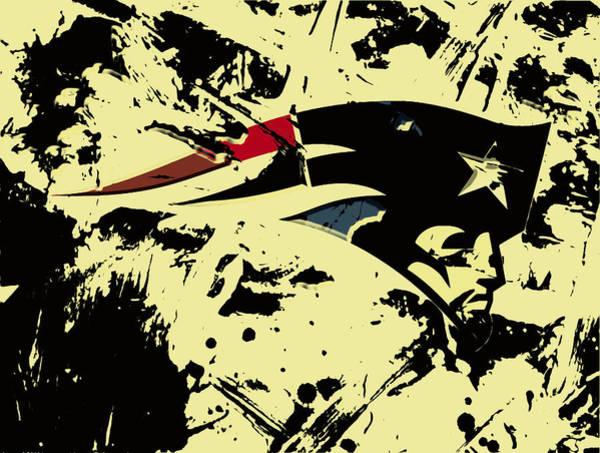 Atlanta Falcons Mixed Media - New England Patriots 1a by Brian Reaves