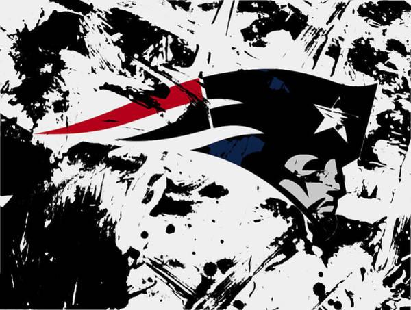 Atlanta Falcons Mixed Media - New England Patriots 1e by Brian Reaves