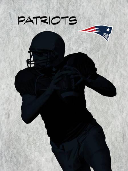 Digital Art - New England Patriots Football by David Dehner