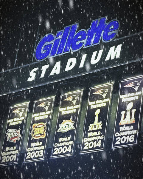 Photograph - New England Patriots - Gillette Stadium by Joann Vitali