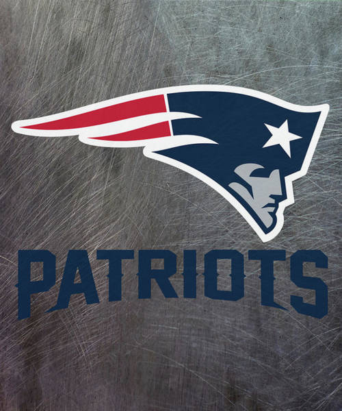 Mixed Media - New England Patriots On An Abraded Steel Texture by Movie Poster Prints