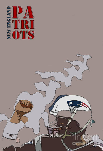 Wall Art - Painting - New England Patriots Original Typography Football Team by Drawspots Illustrations