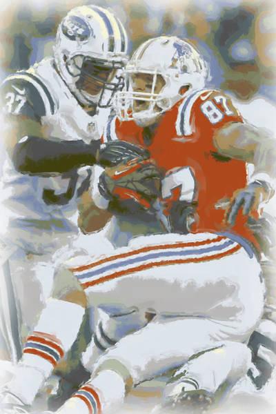 Gronkowski Photograph - New England Patriots Rob Gronkowski 1 by Joe Hamilton
