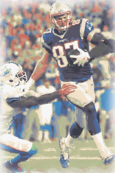 Gronkowski Photograph - New England Patriots Rob Gronkowski 3 by Joe Hamilton