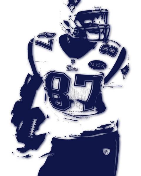 Gronkowski Photograph - New England Patriots Rob Gronkowski by Joe Hamilton