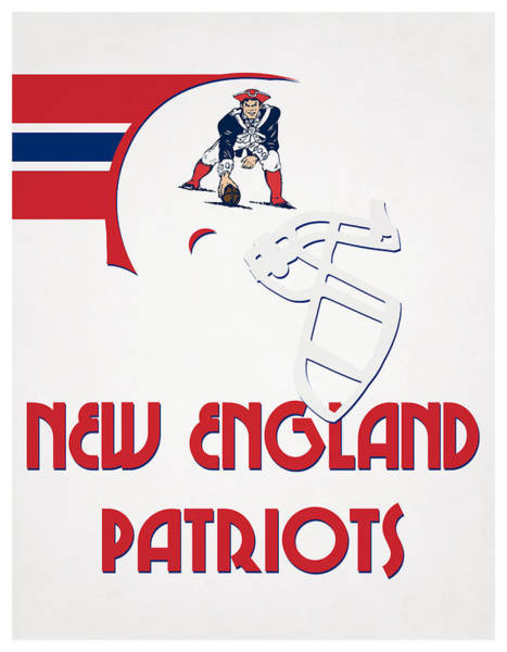 Wall Art - Mixed Media - New England Patriots Team Vintage Art by Joe Hamilton