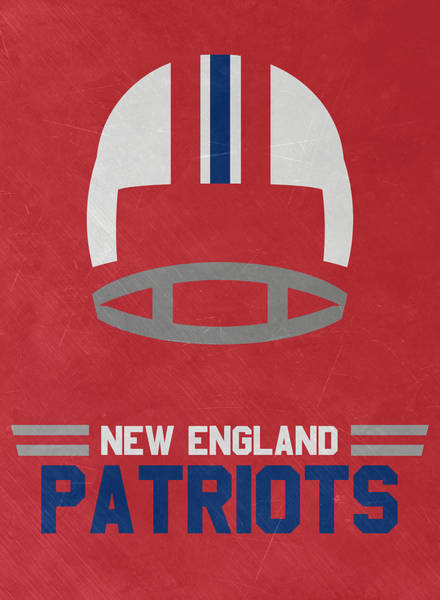 England Mixed Media - New England Patriots Vintage Art by Joe Hamilton