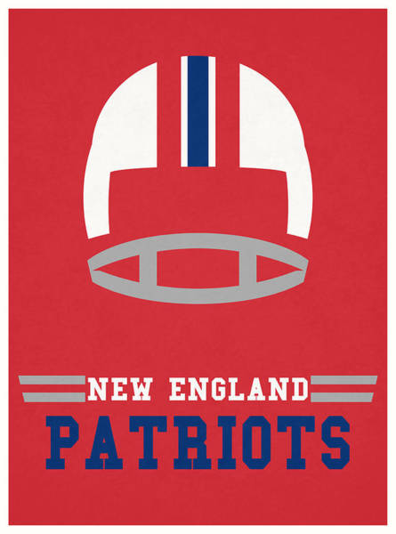 Wall Art - Mixed Media - New England Patriots Vintage Nfl Art by Joe Hamilton