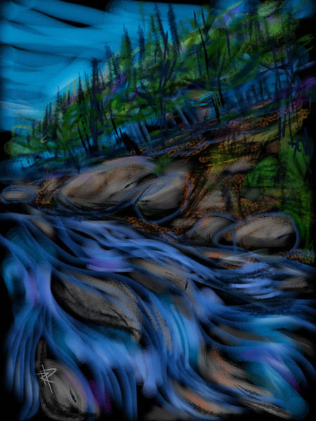 Stream Mixed Media - New England Stream by Russell Pierce