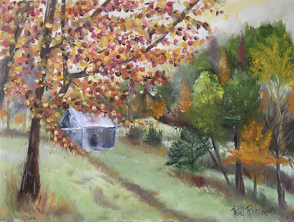 Landscape Painting - New England Sugar House by Roxy Rich