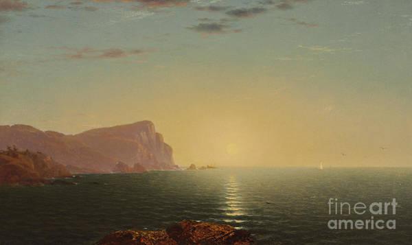 Wall Art - Painting - New England Sunrise by John Frederick Kensett