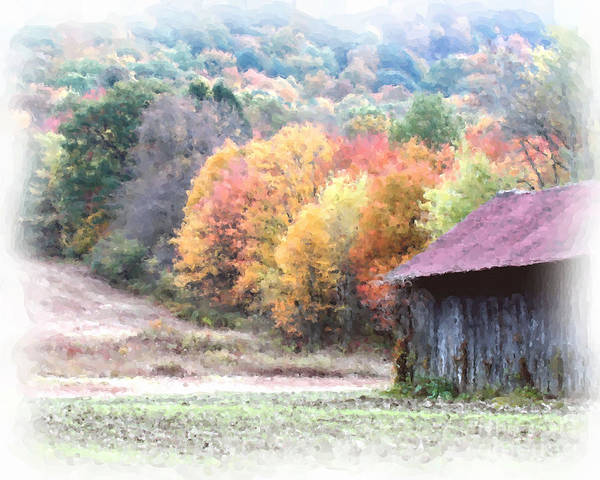 New England Tobacco Barn In Watercolor Art Print