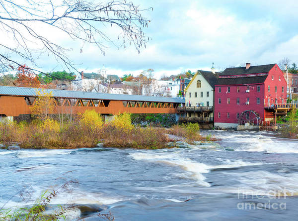 Wall Art - Photograph - New England Watermill  by DAC Photo
