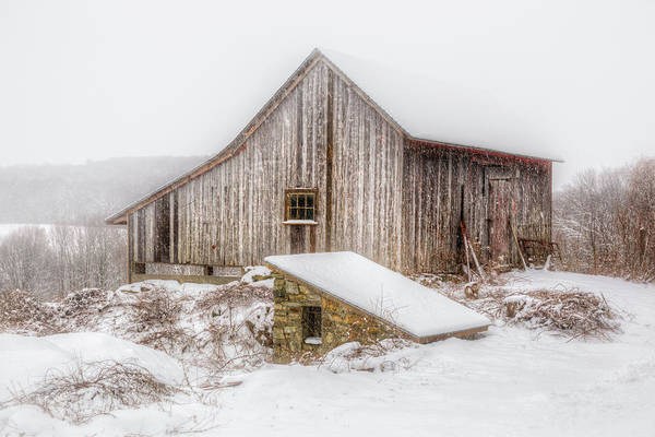 Photograph - New England Winter Rustic by Bill Wakeley