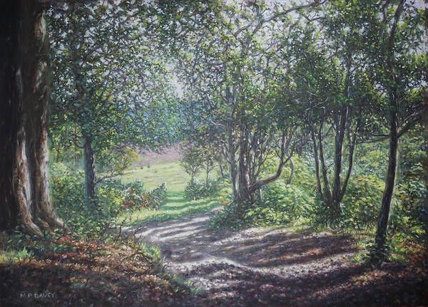 Painting - New Forest Path In Summer Evening by Martin Davey