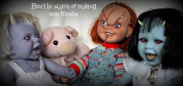 Chucky Wall Art - Photograph - New Friends by Piggy