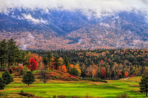 Fall Colors Mixed Media - New Hampshire Autumn Landscape by Dan Sproul