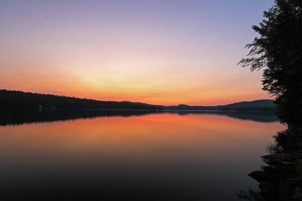 Photograph - New Hampshire Back Lake Sunset by Juergen Roth