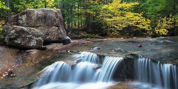 Photograph - New Hampshire Dianas Bath Waterfalls In Fall Foliage by Ranjay Mitra