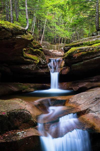 Photograph - New Hampshire Sabbaday Falls And Fall Foliage by Ranjay Mitra