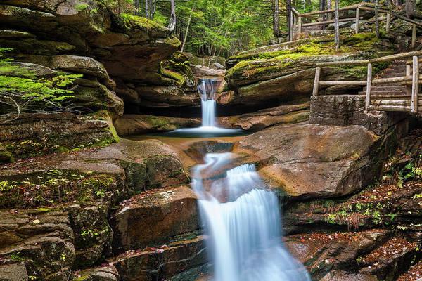 Photograph - New Hampshire Sabbaday Falls In Autumn by Ranjay Mitra