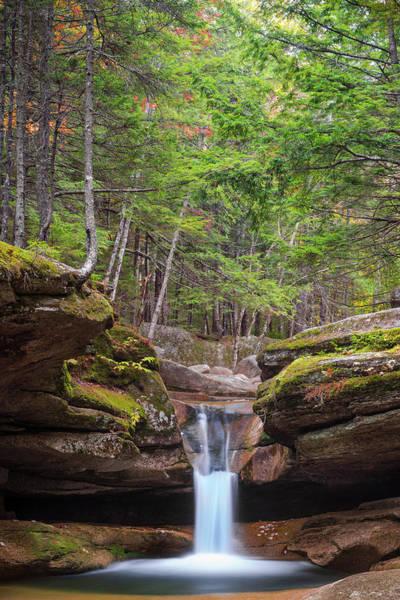 Photograph - New Hampshire Upper Sabbaday Falls And Fall Foliage by Ranjay Mitra