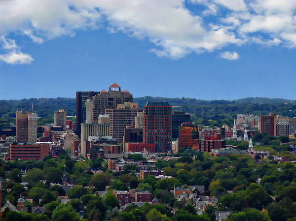 Photograph - New Haven Skyline by Anthony Dezenzio