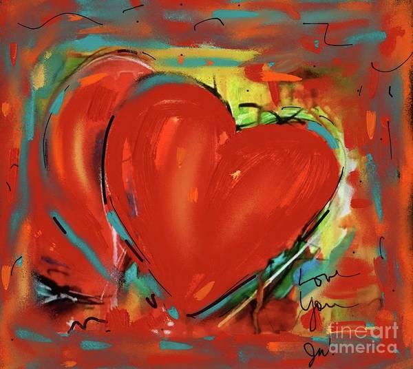 Digital Art - New Heart by Jeanie Watson