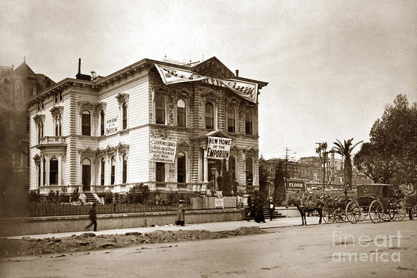 Photograph - New Home Of The Emporium On Van Ness Avenue At Post Street May  19061 by California Views Archives Mr Pat Hathaway Archives