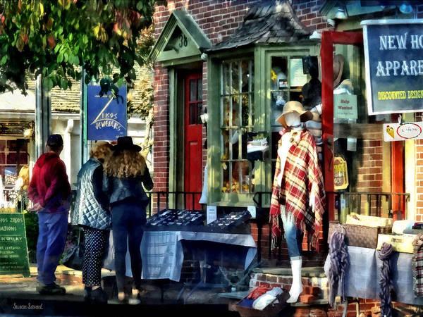 Photograph - New Hope Pa - Shopping Along Main Street by Susan Savad