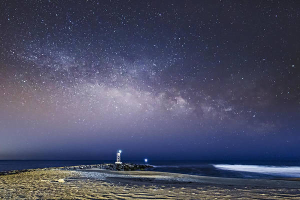 Photograph - New Jersey Shore Milky Way Rising by Susan Candelario