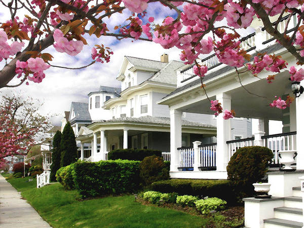 Victorian House Digital Art - New Jersey Shore Spring by Steve Karol