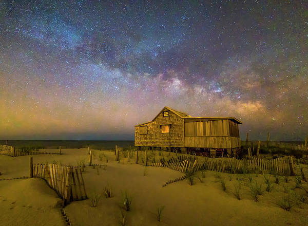 Photograph - New Jersey Shore Starry Skies And Milky Way by Susan Candelario