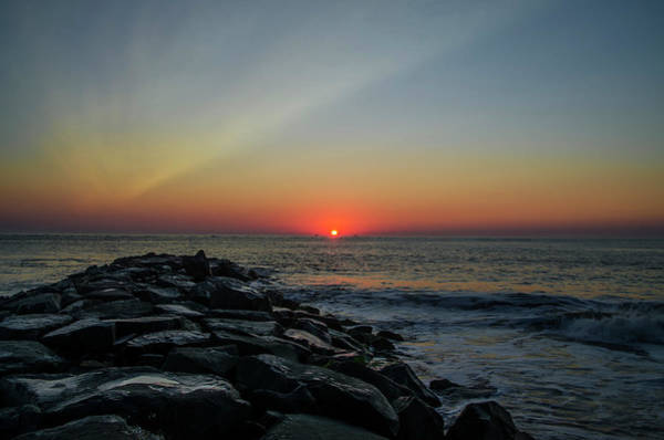 Jetti Wall Art - Photograph - New Jersey Shore - Townsends Inlet by Bill Cannon
